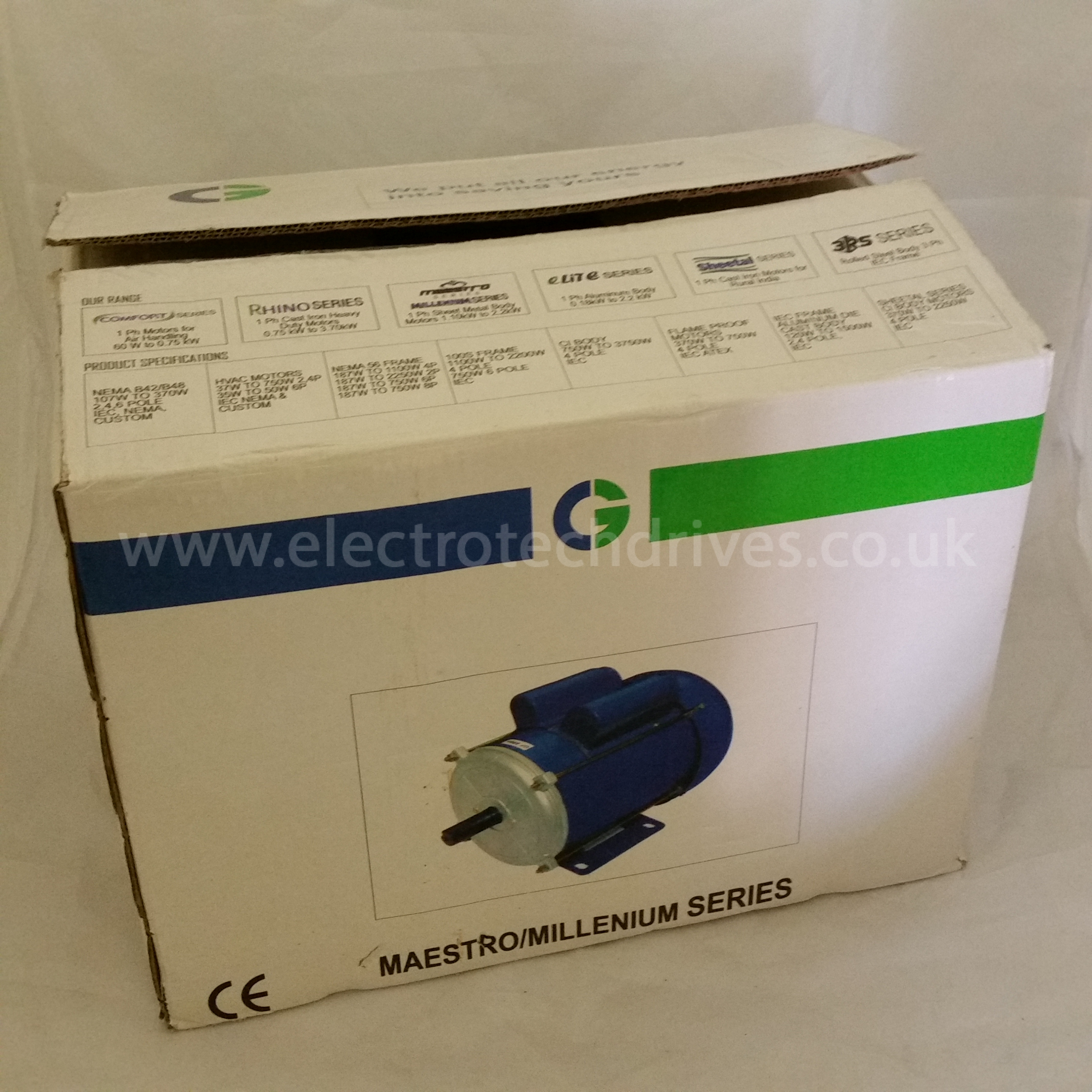 Crompton Greaves Single Phase Motor 16mm 5 8 Shaft 750w