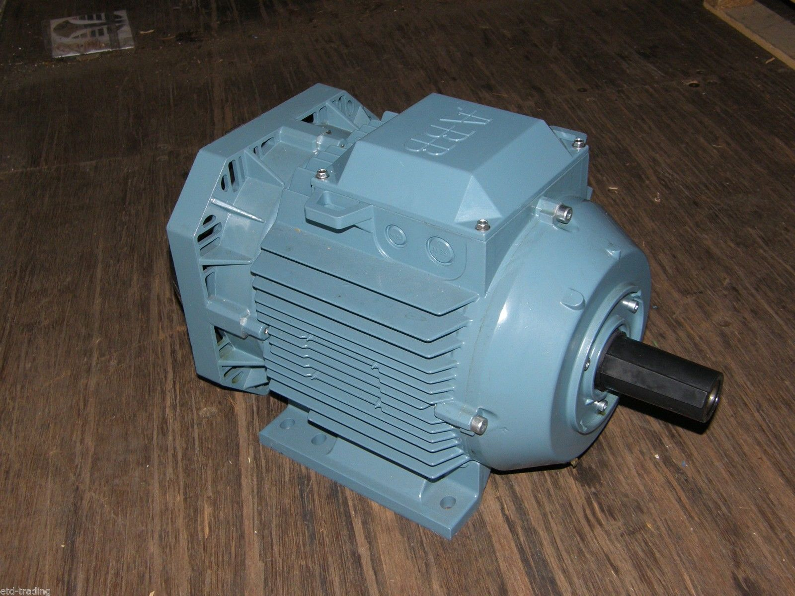 7.5KW ABB ELECTRIC MOTOR 2800RPM 3 PHASE 2 POLE 10HP IE2 B3 FOOT ...