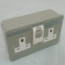 twin metal rcd socket