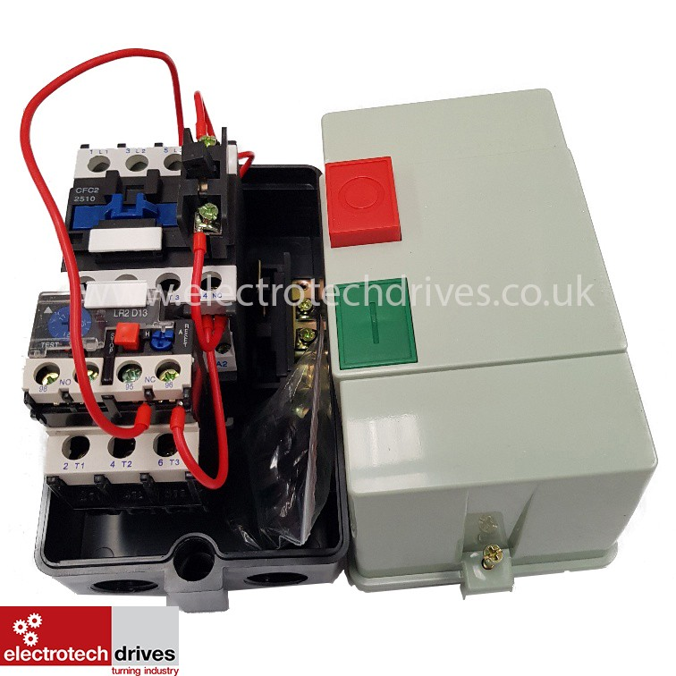 DOL STARTER 240V SINGLE PHASE PRE WIRED WITH 17 TO 25 AMP OVERLOAD 3 7KW 5HP